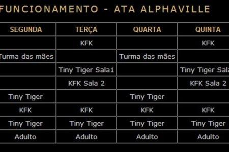 Academia Ata - Unidade Alphaville - Horários de Aulas